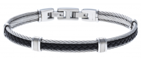 Bracelet acier - 2 câbles...